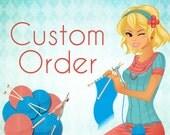 Custom order military style cap for Sasha