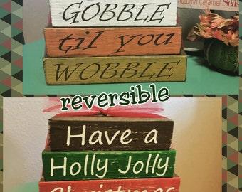 Reversible Holiday Stacking Blocks