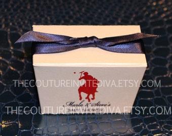 DIY Polo Prince Baby Shower Favor Box; Personalized Baby Shower Favor Boxes, Personalized Favor Boxes, Polo favor box