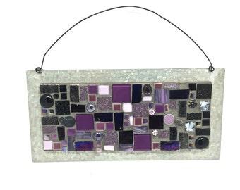 Small metal mosaic wall hanging