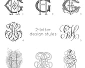 Antique monogram - choose the style and letter combination