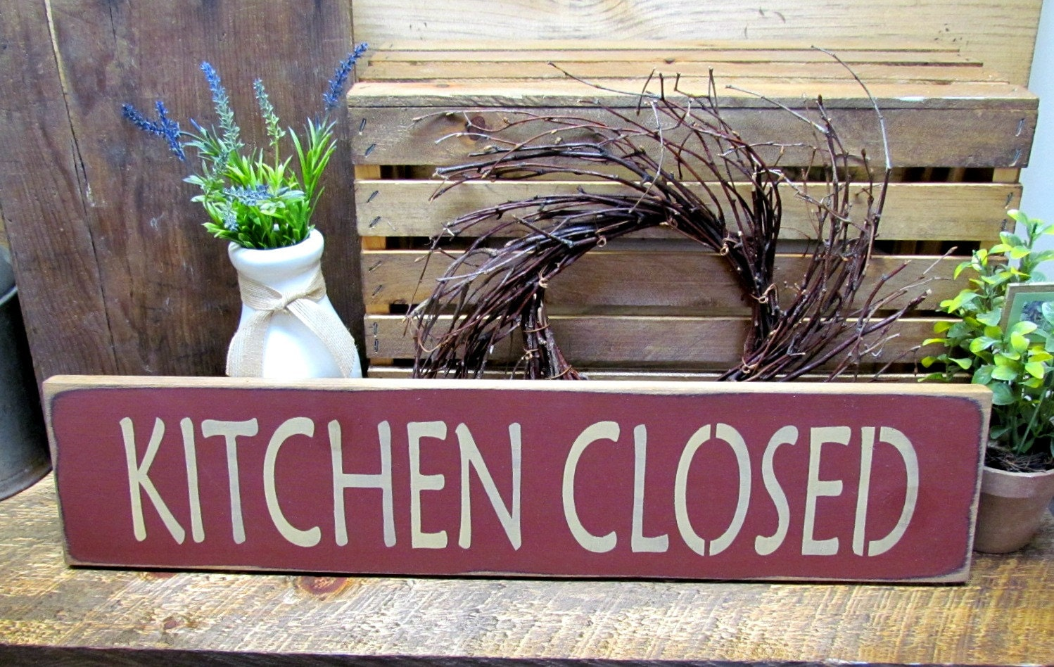 Wooden Kitchen Sign Mothers Day Gift Funny Wood Sign