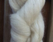 Local Long Wool Blend Carded Un-dyed Roving, in Oatmeal, 2 ozs., Sliver spinning felting dyeing doll craft fiber
