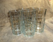 Set of five pressed glasses