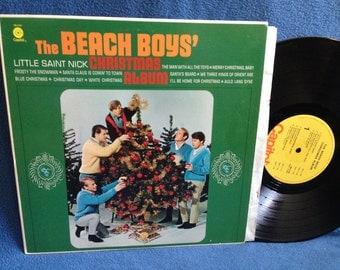 "RARE, Vintage, The Beach Boys - ""Little Saint Nick Christmas Album"", Vinyl LP Record Album, Holiday, Merry Christmas Baby, Little Saint Nick"