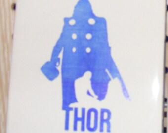 "Laser engraved 4.25"" x 4.25"" Square ceramic tile Thor Odinson for Coaster or Plaque"