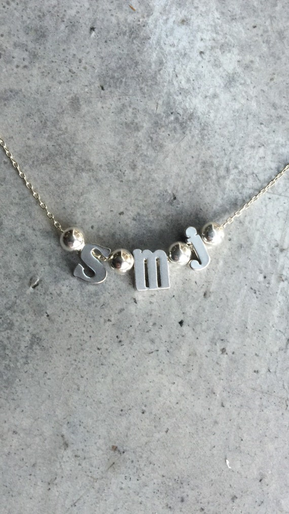 Personalized Initial Necklace, Personilized Gift, Initial Jewelry, Bridesmaids Gift, Lower Case Letter, Personalized Women Gifts