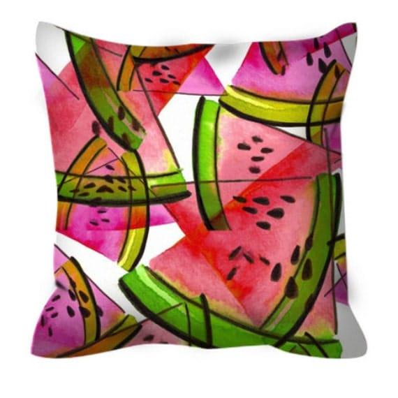 A Proper Picnic Pink Summer Watermelon Pattern Suede Art