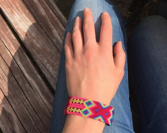Magenta  Friendship Bracelet - Magnetic Closure (009MB)