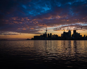 Toronto skyline at sunset - available on canvas or paper print for framing