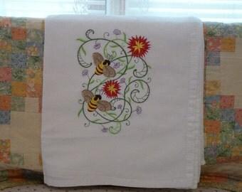 Bumble Bee Flour Sack Dish Towel