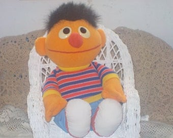 1995 Ernie Sesame Street Stuffed Doll /New Listing/ Not Included In Couon Discount Sale