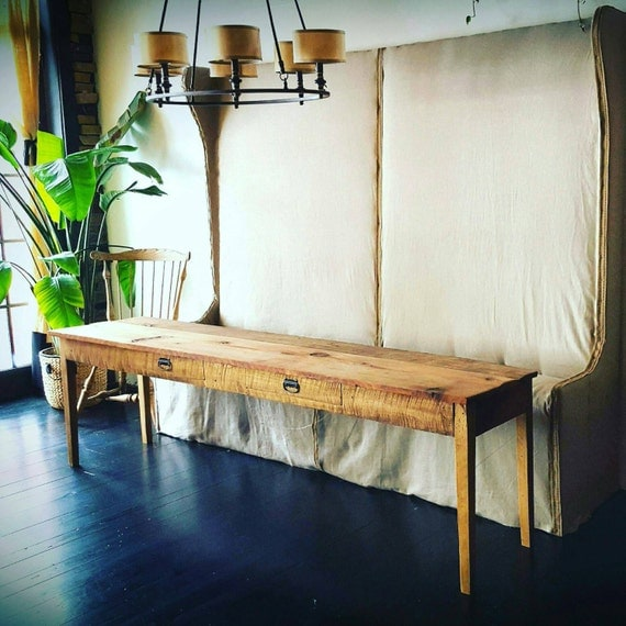 Reserved for Liz -The Katie Reclaimed wood console table