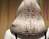 Hoodie Cowl ~ Crochet PATTERN PDF ONLY