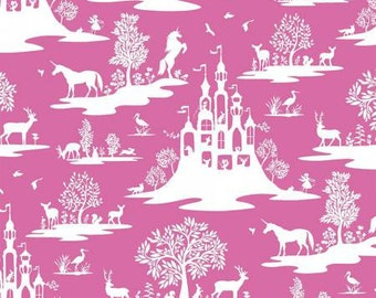 Dear Stella fabric Pink and White Fairy Tale