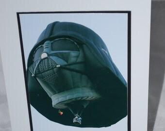 hot air balloon photo card, Darth Vader