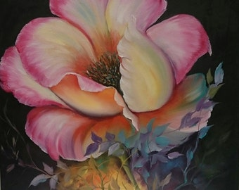 Large Poppy Painting 16 x 16 inch deep box Canvas Oil Painting