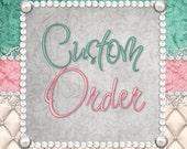 Custom Order - Blanket / Bear / Bonnet - Baby Blue + Overnight Shipping