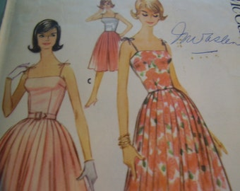 Vintage 1960's McCall's 5760 Culottes or Dress Sewing Pattern, Size 14, Bust 34