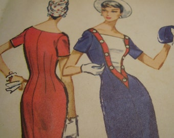 Vintage 1950's McCall's 4547 Dress Sewing Pattern, Size 14, Bust 34