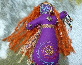 Sun Healing Art Doll, Chakra Doll, Spirit Doll, Medicine Doll