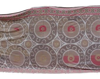 7.51' x 15.68' Suzani Vintage Suzani Old Embroidery Suzani Wall Hanging Uzbek Suzani Table Cover Ethnic Suzani FAST SHIPMENT with ups - 170