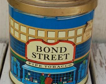 Vintage Bond Street Pipe Tobacco Tin. Vintage tobacco tin. Pipe tobacco tin