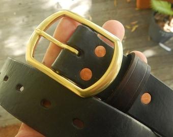 The Sundowner Belt..Handcrafted Bushcraft Belt with  Brass Buckle