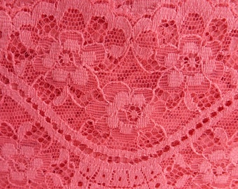 Vintage Vibrant  Pink  Non Stretch  Lace  10 Yards
