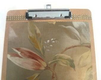 Decoupage Desk ClipBoard - Floral Desk Accessories - Garden Floral Gifts - Teacher Gift - Gift For Her - Decoupaged Clipboard