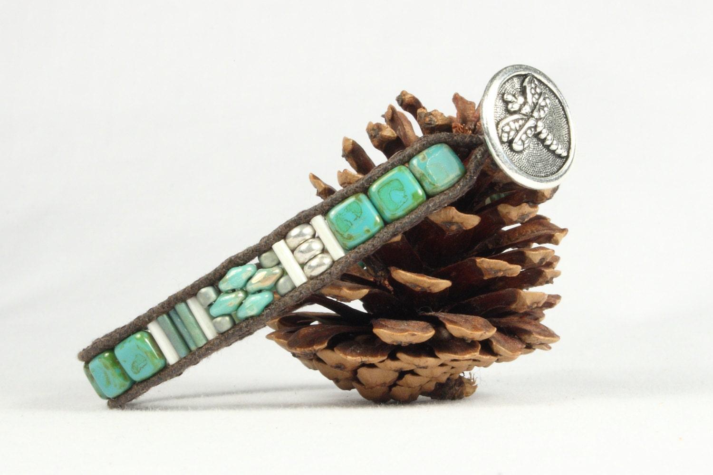 turquoise bead bracelet single wrap bracelet super duo. Black Bedroom Furniture Sets. Home Design Ideas