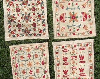 Choose 1 Uzbek Silk Hand Embroidered Pillow Case Cushion Cover
