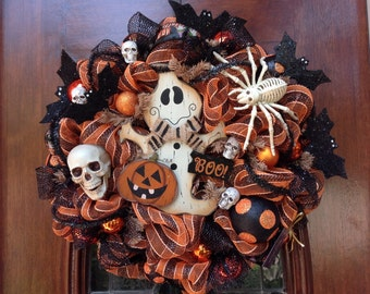 Friendly Ghost Halloween Wreath