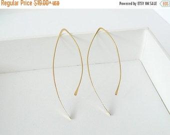 SALE, Gold Arc Earrings, Hoop Earrings, Silver Earrings, Dainty Earrings, Hook Earrings, Open Hoop Earrings, Gold Hoop Earrings
