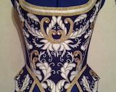 18th century aubergine corset