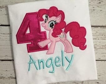 Pinkie Pie My Little Pony Birthday Shirt