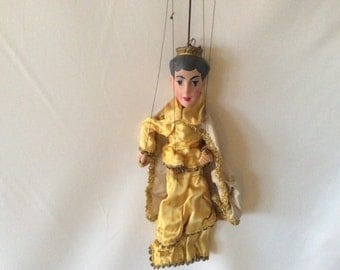 Vintage Queen Marionette, Royal Puppet, Role Playing, Rezek