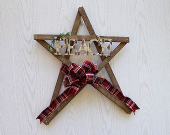 Wooden Peace Star