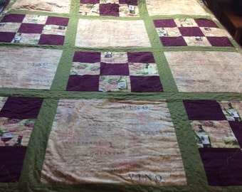 Wine and Grape Quilt