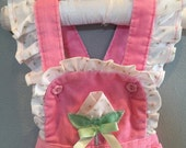 Vintage Pink Baby Overalls
