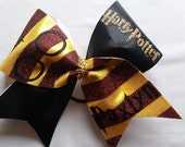 Harry Potter Inspired Cheer Bow