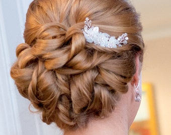 EMILY HAIR COMB, Bridal headpiece, Wedding hair accessories, Bridal Headpieces,