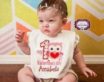 My First Valentines Day, First Valentines Day, Valentine Bib, My First Valentine Bib, My First Valentine, First Valentines Bib, Baby Shower