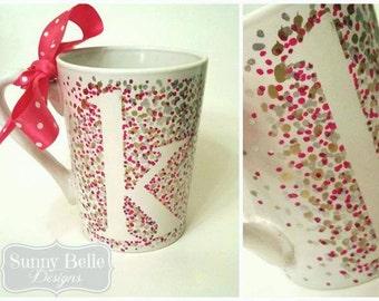 Hand Painted Dotted Coffee Mug