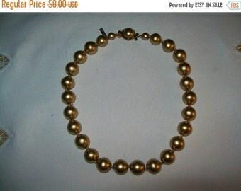 50% OFF Casual Corner tan bead necklace, vintage bead Necklace
