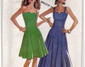 FF 1990s Sexy Strapless Dress with V-neck Vintage Sewing Pattern - New Look 6139 - Size 8-18, Bust 34-36-38-40-42-44 UNCUT