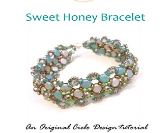 Sweet Honey Bracelet Tutorial PDF Instant Download