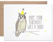Belated Birthday Owl