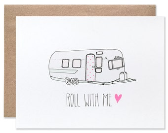 Roll With Me Airstream Blank Card