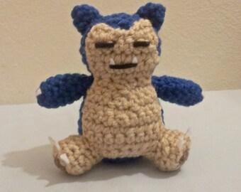 Snorlax Inspired Crochet Amigurumi Doll - Stuffed/Plush Toy